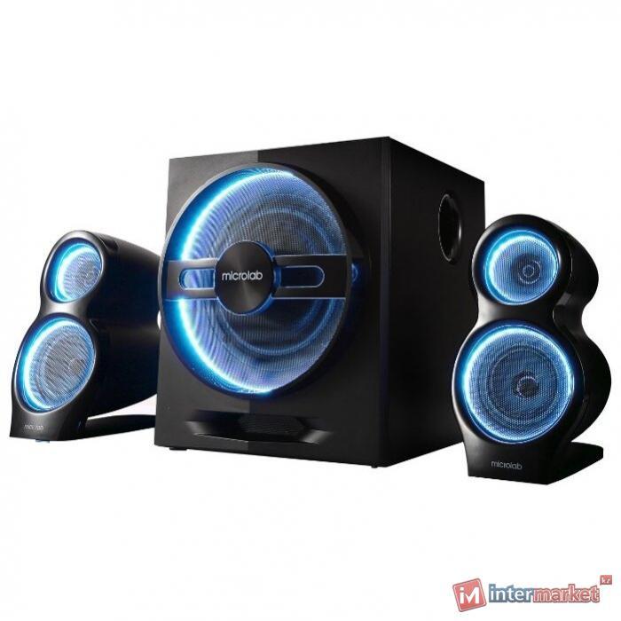 Акустическая система, Microlab, M-106BT, 10Вт (2,5Вт2+5Вт), Bluetooth, Чёрный
