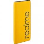 Power bank realme RMA138, для зарядки USB-устройств, 10000mAh, 5V/3A, Yellow