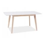 Стол обеденный Signal COMBO, дуб беленый/белый