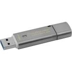Флешка USB Kingston, DT Locker+G3, 32GB,  gray
